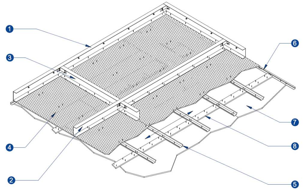 60 Minute Insulated Durasteel Composite Membrane Plenum Ceiling Diagram